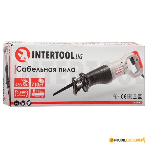 Сабельная пила Intertool 710Вт DT-0400