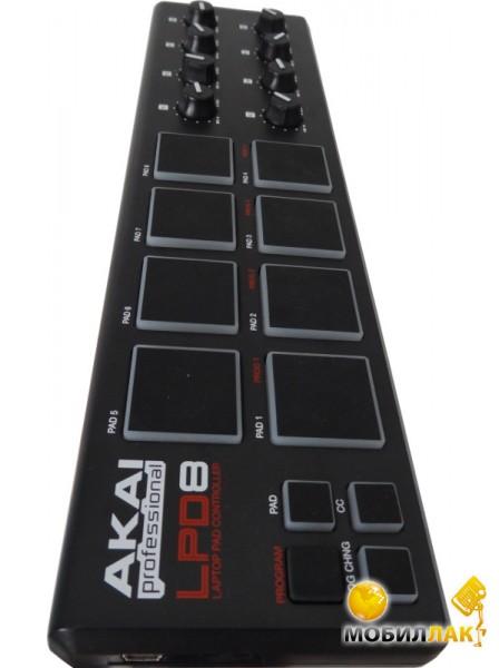 Midi-контроллер Akai Lpd-8 (in Music)  Купить Midi