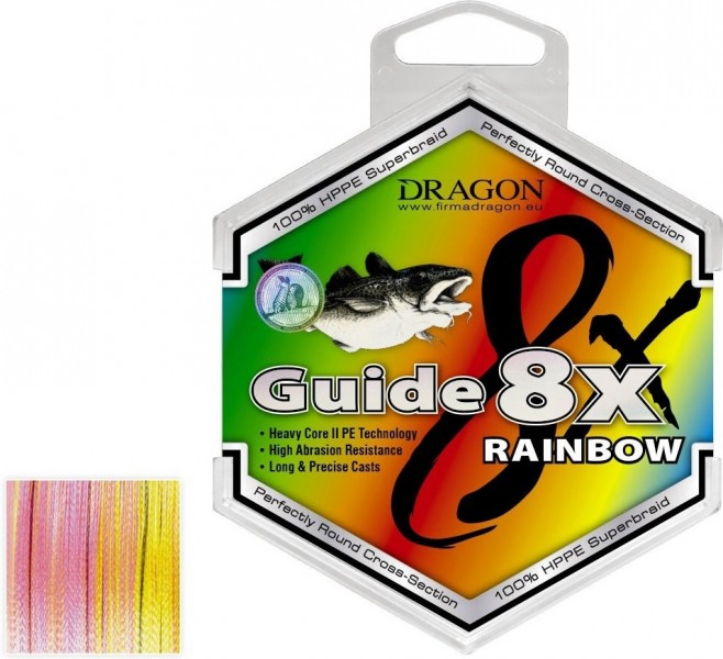 Шнур Dragon Guide 8X Rainbow 250 м 0.30 мм 28.10 кг (PDF-42-10-930)