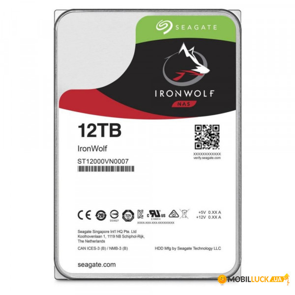 Жесткий диск Seagate IronWolf NAS HDD 12TB 3.5