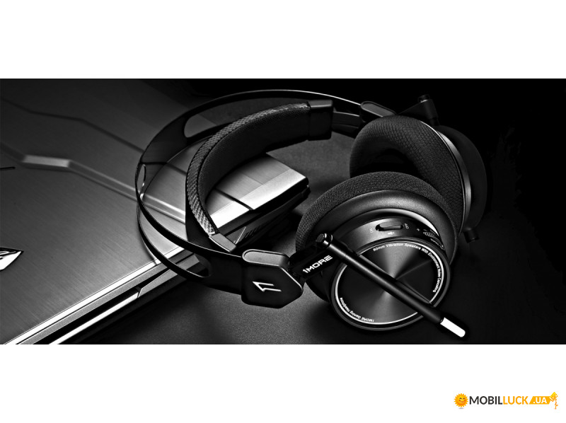 ... Фотография Наушники 1More Spearhead VR Over-Ear Mic Black (H1005) (4)  ... 38e9ce02f55d6