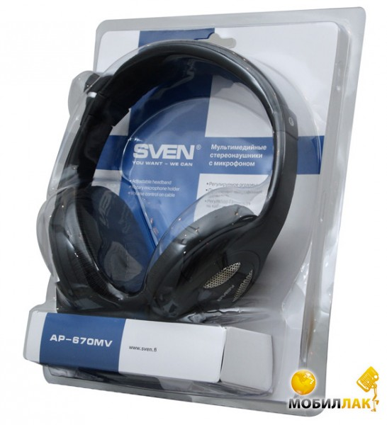 Наушники Sven AP-670MV Black