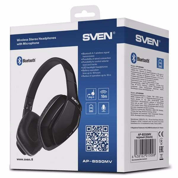 Наушники Sven AP-B550MV Bluetooth (AP-B550MV)