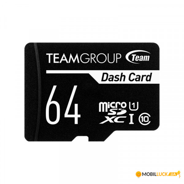 Карта памяти Team 64GB UHS-I Class 10 Dash Card + SD-adapter (TDUSDX64GUHS03)