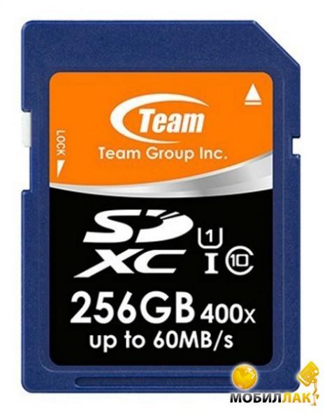 Карта памяти Team SDXC 256GB UHS-I (TSDXC256GUHS01)