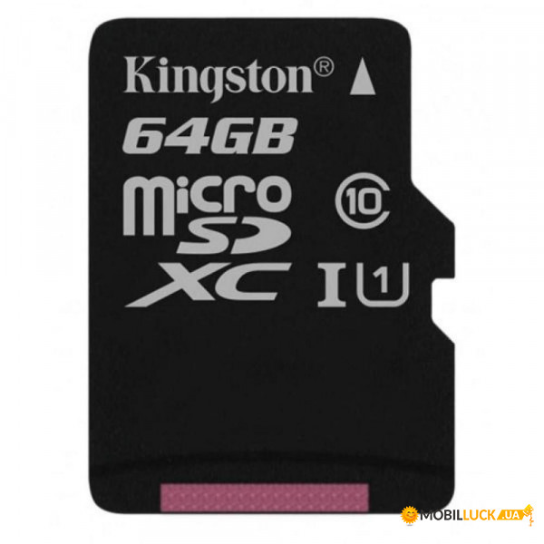 Карта памяти Kingston 64 GB microSDXC Class 10 UHS-I Canvas Select (SDCS/64GBSP)