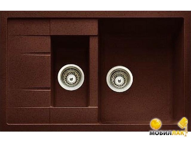 Кухонная мойка Longran AMG 780.500 - 93 Marone (с сифоном)