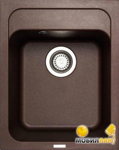 Кухонная мойка Longran CLS 400.500 - 93 Marone (с сифоном)