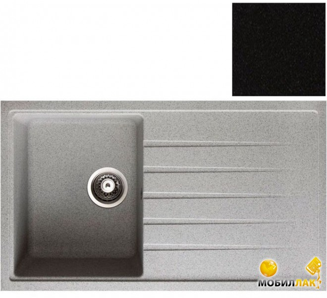 Кухонная мойка Longran CLS 860.500-10 Onyx (с сифоном)