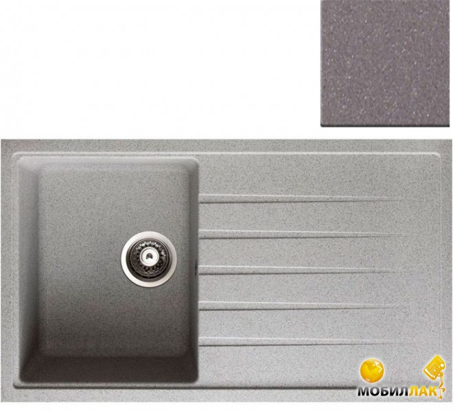 Кухонная мойка Longran CLS 860.500-49 Croma (с сифоном)