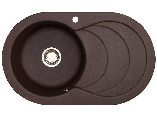 Кухонная мойка Longran Cascade 1.0B Chocolate Metallic (с сифоном)