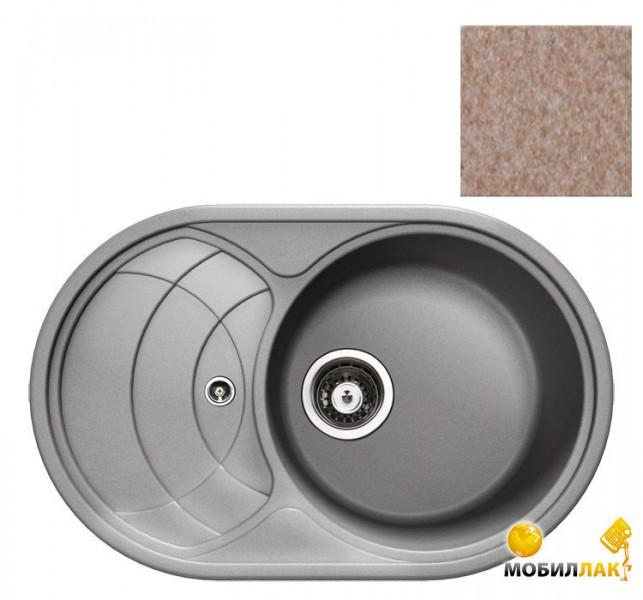Кухонная мойка Longran ECG 780.500-58 Sabbia (с сифоном)