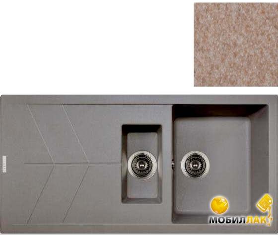 Кухонная мойка Longran JZG 1000.500.15-58 Sabbia (с сифоном)