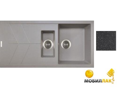 Кухонная мойка Longran JZG 1000.500.15 - 40 Lava (с сифоном)