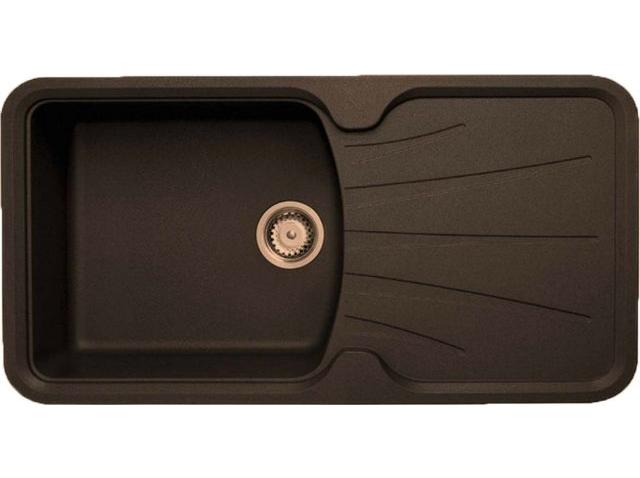 Кухонная мойка Longran Korona 1.0B Chocolate Metallic (с сифоном)