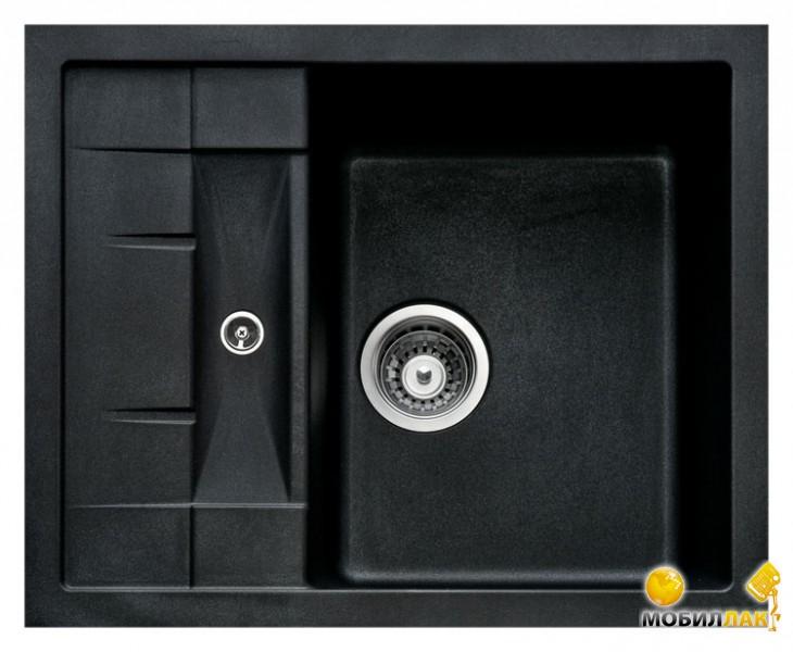 Кухонная мойка Longran ULS 615.500-10 Onyx (с сифоном)