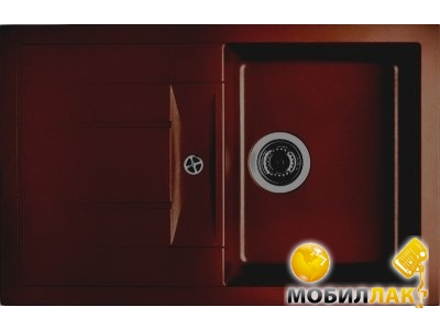 Кухонная мойка Longran ULS 780.500 - 93 Marone (с сифоном)