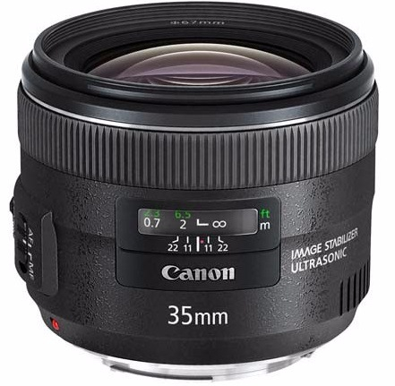 Объектив Canon EF 35 мм f/2 IS USM (hood EW-72 + case kit)