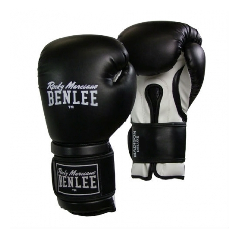 Перчатки боксерские Benlee Madison Deluxe р.14 194021 / 1500 Черный/Белый