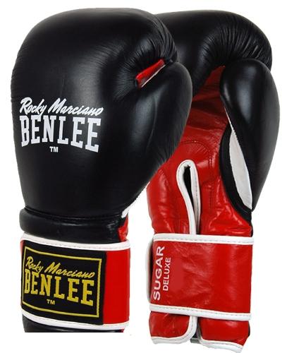 Перчатки боксерские Benlee Sugar Deluxe р.12 194022 / 1503 Черный/Красный