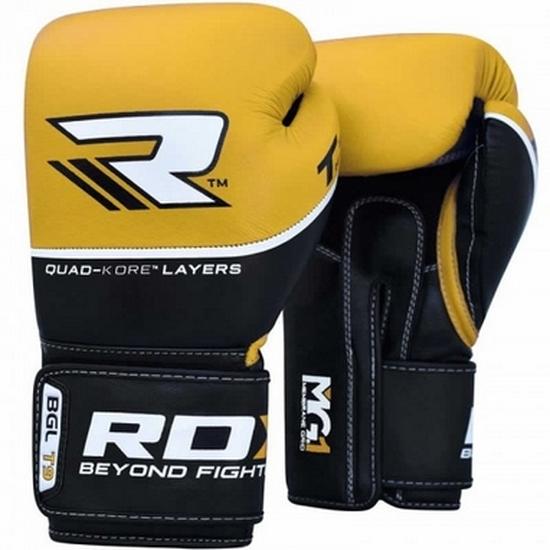 Боксерские перчатки RDX Quad Kore Yellow 12 oz