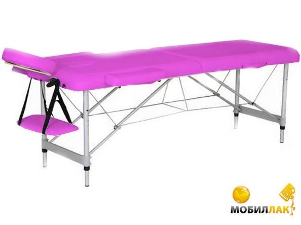 Массажный стол 2-х секционный HouseFit HY-2010-1.3 розовый (алюмин. рама)