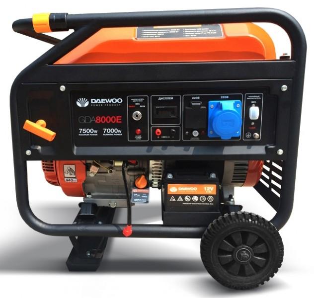 Генератор бензиновый Daewoo GDA 8000E