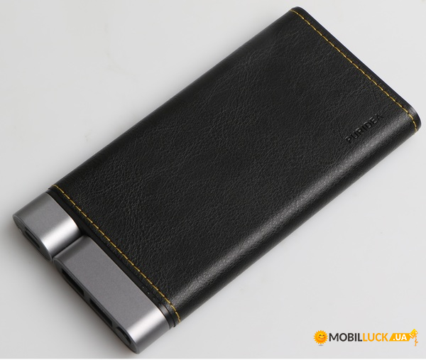 Внешний аккумулятор Puridea X01 10000mAh Li-Pol +TYPE-C Leather Black