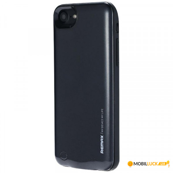 Универсальная мобильная батарея Remax Power Bank Energy jacket with case for iphone7 2400 mAh Black (PN-01/BK)