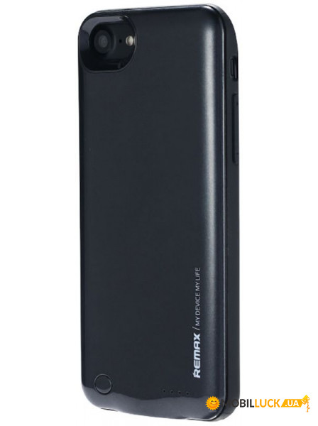 Внешний аккумулятор Remax Power Bank Energy jacket with case for iphone7 2400 mAh Black