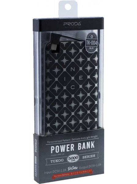 Внешний аккумулятор Remax Power Bank Proda Tukoo Series 5000mah Black white