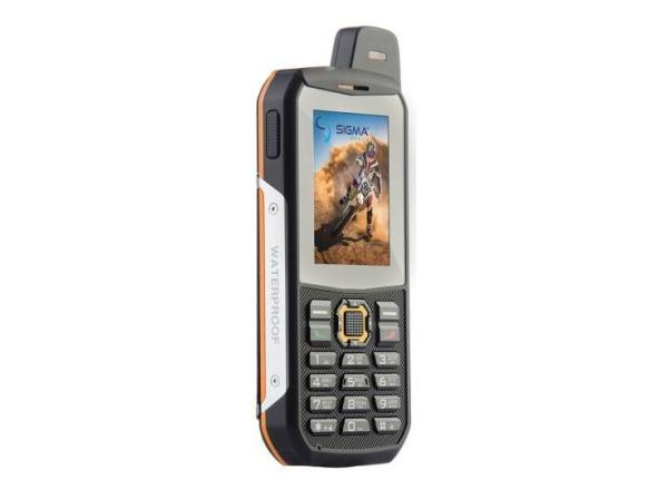 Мобильный телефон Sigma mobile X-treme 3SIM GSM+CDMA black-orange