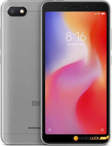 Смартфон Xiaomi Redmi 6A 2/16Gb Grey *CN