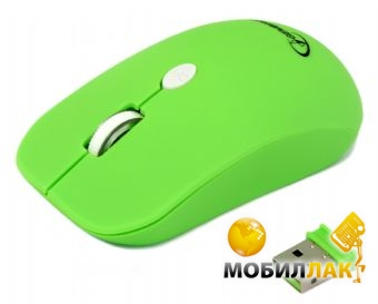 Мышь Gembird wireless (MUSW-102-G) Green
