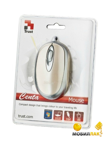 Мышь Trust Centa Mini Mouse White (16147)