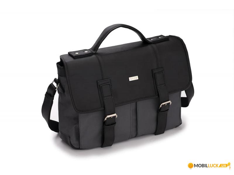 376ca45ccf82 Городская мужская сумка Solier Серо - черная (S14GrayBlack). Купить ...
