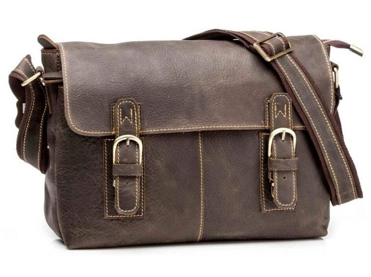 Мессенджер Tiding Bag G8850 кожаный Коричневый