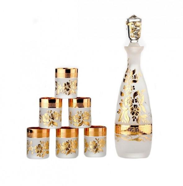 Набор для водки Bohemia Consul Arabesque gold (6+1) (42-039)