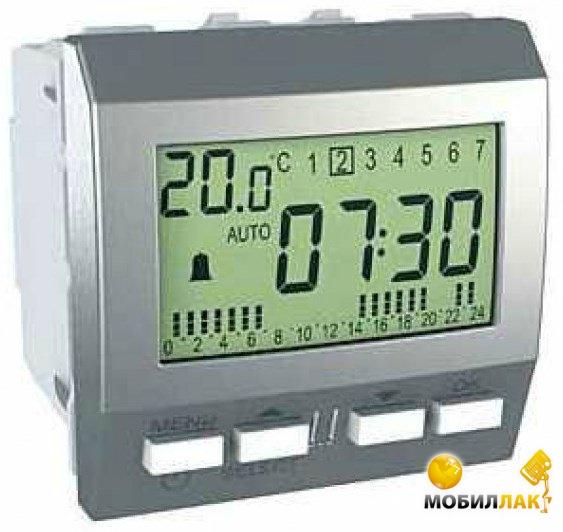 Цифровой будильник Schneider Electric Unica MGU3.545.30 алюминий