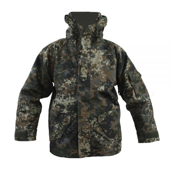 Куртка Mil-Tec ветро-влагозащитная с флисовой подстежкой Flecktarn (S)