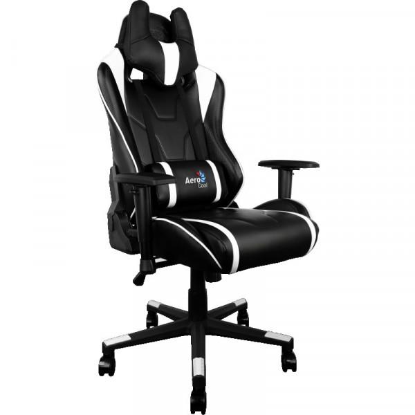 Кресло для геймеров Aerocool AC220BW Black-White + 2 подушки (ACGC-2003101.21)