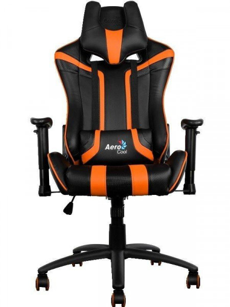 Кресло для геймеров Aerocool AC120BO Black-Orange + 2 подушки (ACGC-2002101.E1)