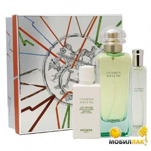 Набор Hermes Jardin Sur Le Nil (EDT+B/L+EDT) for women 100+40+15