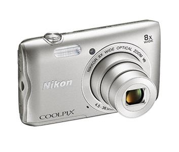 Цифровая фотокамера Nikon Coolpix A300 (VNA960E1) Silver