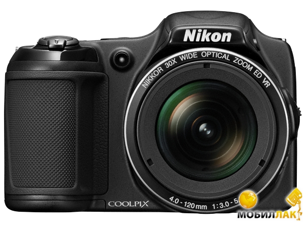 Фотоаппарат Nikon Coolpix L820 Black (12 мес)
