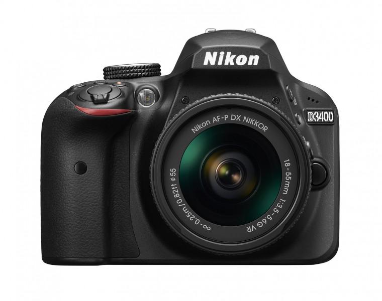 Цифровая зеркальная фотокамера Nikon D3400 Kit AF-P 18-55mm VR (VBA490K001)