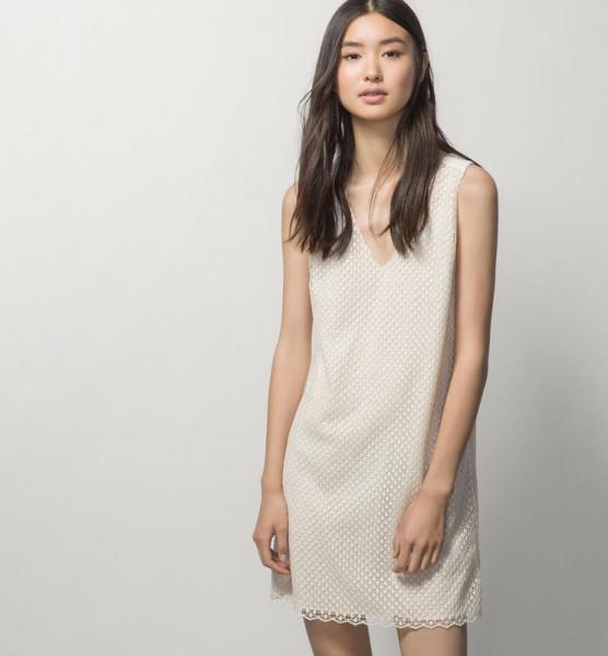 Платье Massimo Dutti р-р 40 Молочный (6624841)