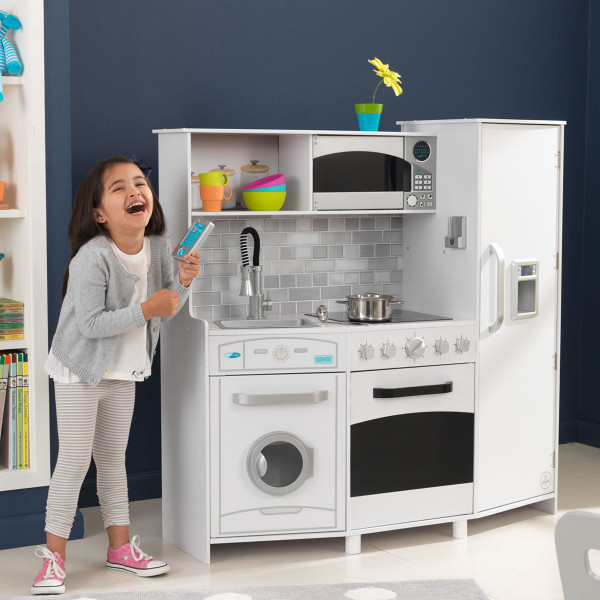 Детская кухня KidKraft большая со светом и звуками Deluxe (53369)