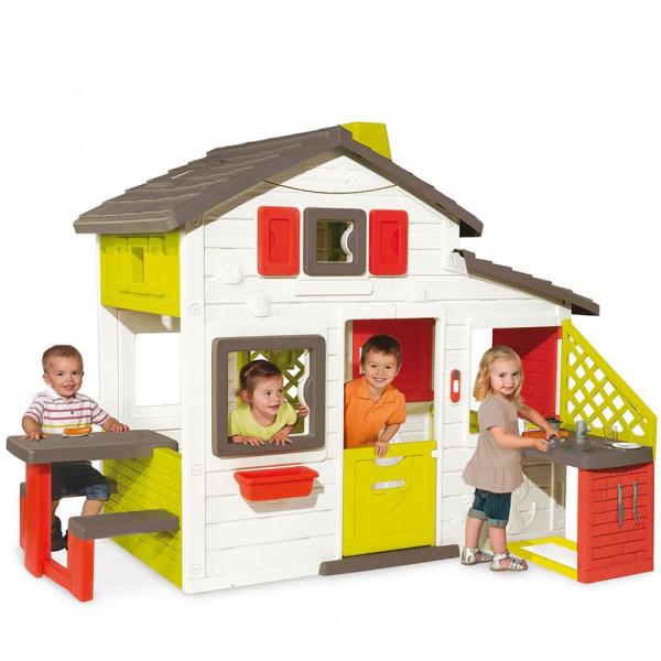 Домик Smoby Дом для друзей с чердаком и летней кухней (810200)