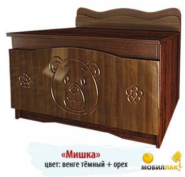 Ящик для игрушек Вальтер-С Мишка Орех — Венге темный